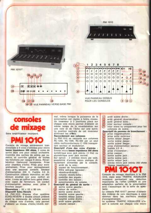 Catalogue MI 12